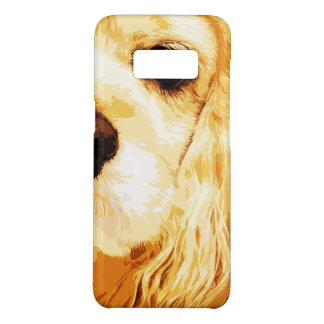 modern yellow American cocker spaniel Case-Mate Samsung Galaxy S8 Case