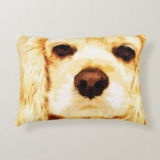 modern yellow American cocker spaniel Decorative Pillow