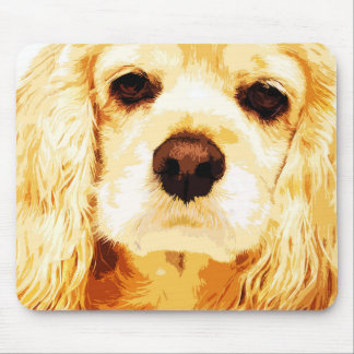 modern yellow American cocker spaniel Mouse Pad