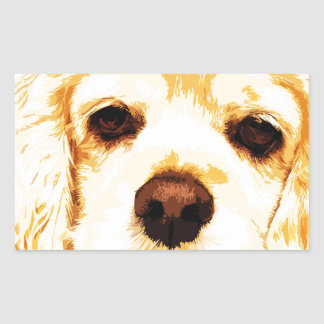 modern yellow American cocker spaniel Sticker