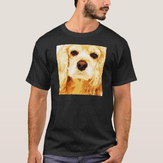 modern yellow American cocker spaniel T-Shirt