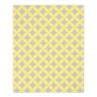 Modern Yellow and Gray Circle Pattern Flyer