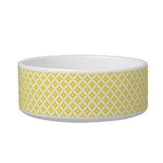 Modern Yellow and White Circle Polka Dots Pattern Bowl