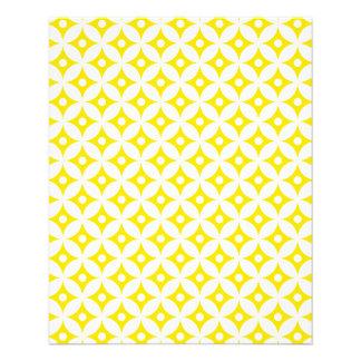 Modern Yellow and White Circle Polka Dots Pattern Flyer