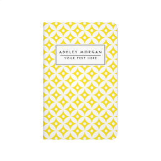 Modern Yellow and White Circle Polka Dots Pattern Journal