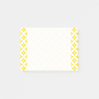 Modern Yellow and White Circle Polka Dots Pattern Post-it Notes