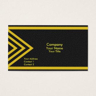 Modern yellow arrows business card