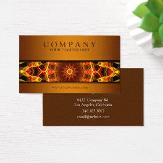 modern Yellow Crocus mandala brown Business Card