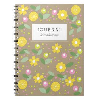 Modern Yellow Flowers Notebooks