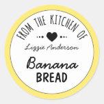 Modern Yellow From the Kitchen of Label Round Sticker