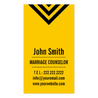 Modern Yellow Marriage Counseling Business Card
