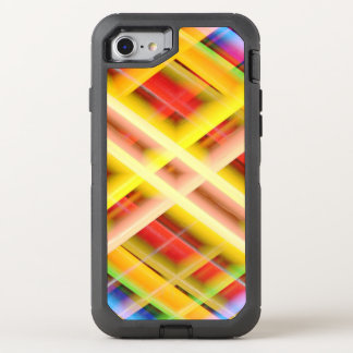 Modern Yellow Plaid OtterBox Defender iPhone 8/7 Case
