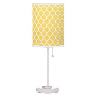 Modern Yellow Quatrefoil Table Lamp