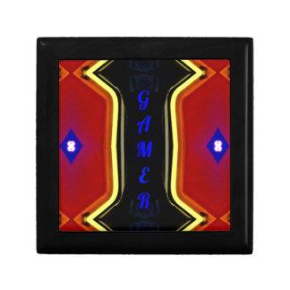 Modern Yellow Red Blue 'Gamer' Artistic Design Gift Box