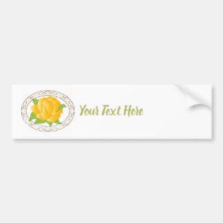 Modern Yellow Rose Bumper Sticker