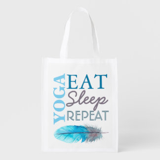 Modern Yoga Eat Sleep Repeat Reusable Bag