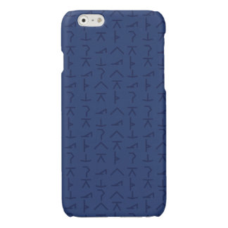 Modern Yoga Symbols - Blue - iPhone Case - 6/6s