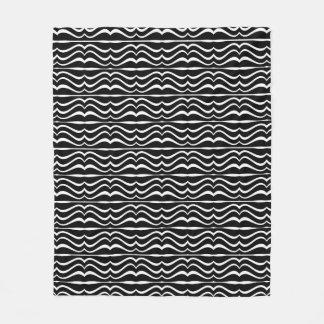 Modern Zebra Pattern Fleece Blanket