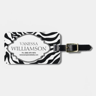 Modern  Zebra  Pattern Personalized Luggage Tag