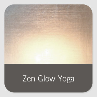 Modern Zen Glow Yoga and Healing Arts Square Sticker