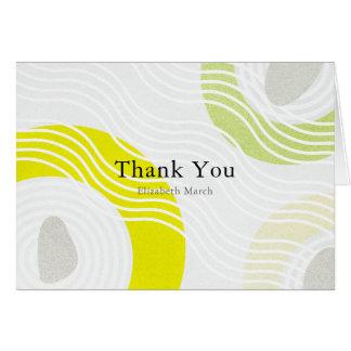 Modern Zen Rock Garden Gray Thank You Card
