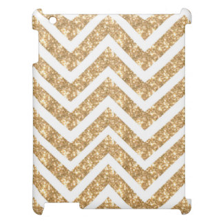 Modern Zigzag Faux Gold Glittery  Chevron Pattern Cover For The iPad 2 3 4