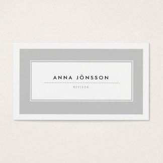 Moderna Grå Visitkort Business Card