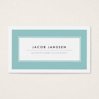 Moderne Blauw Visitekaartjes Business Card