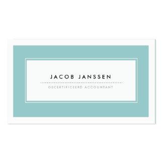 Moderne Blauw Visitekaartjes Pack Of Standard Business Cards