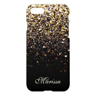 Moderne élégant d'or de noir unique de coque iPhone 7