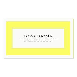 Moderne Geel Visitekaartjes Pack Of Standard Business Cards