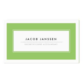 Moderne Groen Visitekaartjes Pack Of Standard Business Cards
