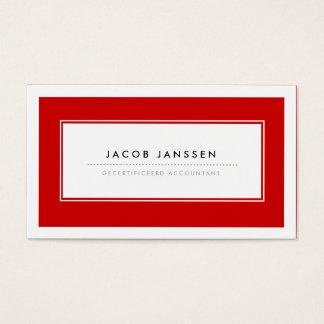 Moderne Rood Visitekaartjes Business Card