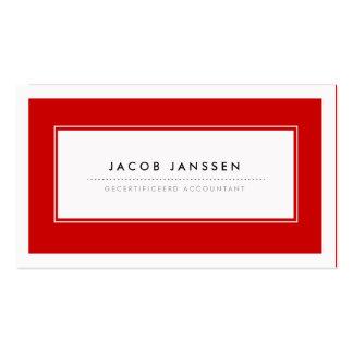 Moderne Rood Visitekaartjes Pack Of Standard Business Cards