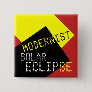 Modernist Solar Eclipse Funny customizable 2 Inch Square Button