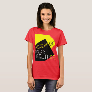 Modernist Solar Eclipse Funny customizable T-Shirt