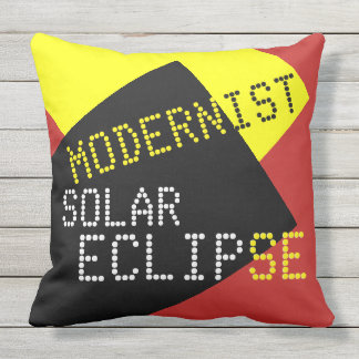 Modernist Solar Eclipse Lazy Funny customizable Throw Pillow