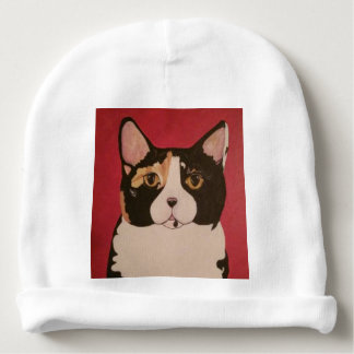 ModernPetPortraitsTN Calico Kitty baby cap hat Baby Beanie