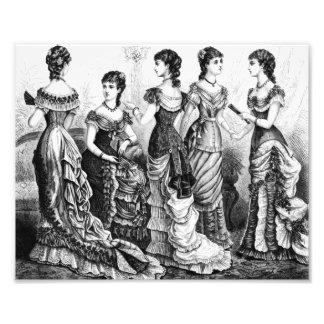 Modes victoriennes noires et blanches photos sur toile