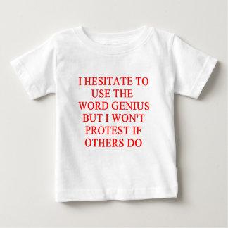 modest genius joke t shirts