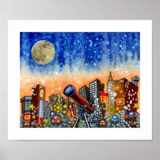Modge City - Clocklands - 12 x 10 Poster