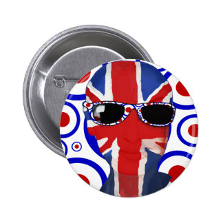 Modhead Retro sixties art 2 Inch Round Button