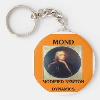 modifie newtonian dynamics physics design basic round button keychain