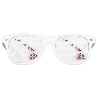 Modified Hawaiian Flag Retro Sunglasses