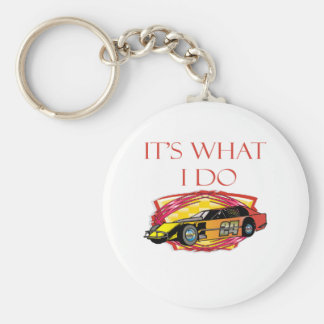 Modified Mustang Racing Car Basic Round Button Keychain