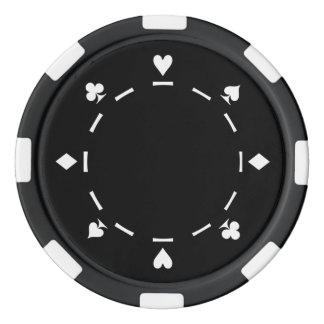 Modify the color background on these poker chips