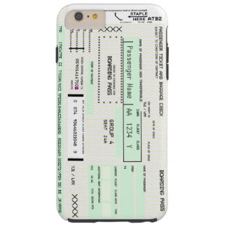 Modify This Airline Boarding Pass Tough iPhone 6 Plus Case
