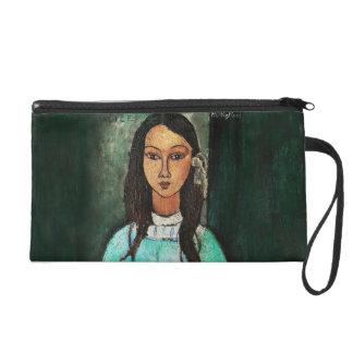 Modigliani Alice Vintage Fine Art Painting Wristlet Clutch