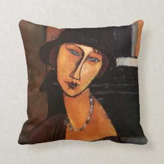 Modigliani - Portrait of Jeanne Hebuterne Pillow