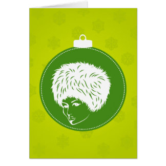 Modish Lime Christmas Card